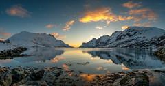april evening in Ersfjordbotn (John A.Hemmingsen) Tags: ersfjordbotn tromsø landscape troms nordnorge snow april sky sunset clouds fjord