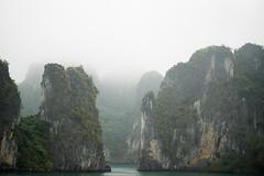 Halong Bay - Bay Tu Long (Šmizls) Tags: sonyalpha7ii halongbay baytulong vietnam beatiful tropics southchinasea unesco nature green islands rocks sky winter foggy mist rainy asia