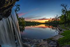 Platte County Waterfall (Jonathan Tasler) Tags: plattecounty thousandoaks waterfall sunset panorama nikon d810 1424mm