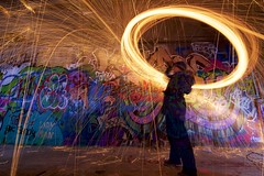 Jaclyn Thistle Rumsey, spin Queen (John Andersen (JPAndersen images)) Tags: burning exshaw fire girl graffiti night steelwoolspinning strong woman