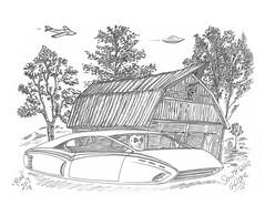 Southwind Glider (rod1691) Tags: sketch bw alien greys concept custom car retro space hotrod drawing pencil h2 hb original story fantasy funny automotive art illistration greyscale moonpies kansas