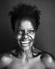 Another portrait of the always beautiful Samia Loki (sterlingbatsonphoto) Tags: instagramapp square squareformat iphoneography uploaded:by=instagram black women 6x7 film rz67 models smiles smiling blackandwhite portraiture portraits portrait