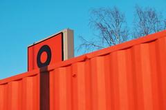 Dot on the I (Jani M) Tags: street urban abstract orange blue shadow align