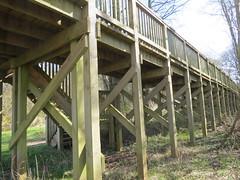 Bird hide - Llangorse Lake. (ali j5) Tags: woodwork timber birdhide patterns llangorselake wales