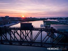 Lorain Ohio Sunset 4-24-17-1.jpg (jddamman) Tags: bridge spring drone landscape phantom4pro lakeerie colorful marina sunset colors dji aerial ohio phantom4 p4p