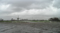 Stormy weather, Leiden, The Netherlands (hjreitsma) Tags: storm stormy weather leiden canal water wind