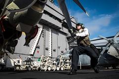 170424-N-VN584-082 (U.S. Pacific Fleet) Tags: usstheodoreroosevelt cvn71 underway alex corona vn584 ad aviationmachinistsmate propcheck e2chawkeye sunkings carrierairborneearlywarningsquadron vaw 116 flightdeck
