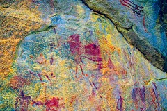 DSC05199 - BONGANI Spot 2_lxx (HerryB) Tags: 2017 southafrica afrique afrika sar sonyalpha77 sonyalpha99 tamron alpha bechen fotos photos photography sony herryb mpumalanga rockart rockpaintings peintres rupestres san zeichnungen höhlenmalerei paintings bushmen buschmänner dstretch harman jon jonharman enhance falschfarben restauration bongani lodge mountain bonganimountainlodge spot2
