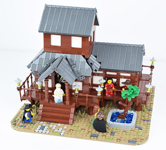 Tabashii's Tea House - Top (Cuahchic) Tags: lego foitsop japan cha teahouse skudae landsofroawia loreos culture moc build wooden timber tree minifig mongols