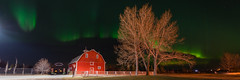 Adventures in life-76 (Ken Wiebe) Tags: april april2017 aurora auroraborealis barn green hilliersresvoir northernlights purple red spring trees