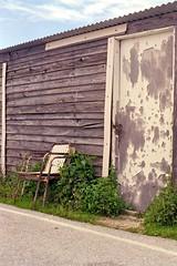 Hut (Jackobo) Tags: door wood old plants tarmac cabin chairs delta greece hut arta arachthos
