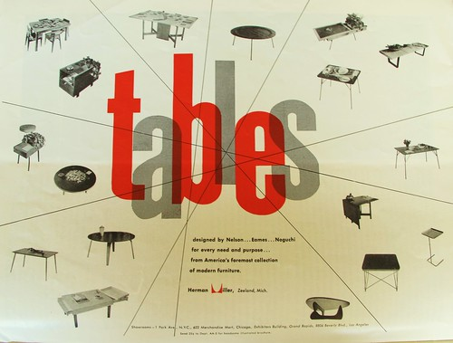 "1951 Herman Miller add ""Tables"""