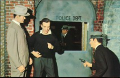 The DeathOf Lee Harvey Oswald, Wax Museum, Vancouver BC (SwellMap) Tags: vintage advertising death pc fight 60s gun dummies fifties postcard kitsch retro nostalgia crime chrome western murder violence duel amusementpark americana shooting deathvalley 50s tacky roadside dummy themepark sixties frontier gunfight shootout midcentury oldwest frontiertown effigies waxmueum