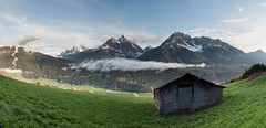 Whispering Winds (rodeonexis - photography) Tags: sky mist mountains alps green cortina grass clouds landscape amazing jagged lush epic dolomites dolomiti sexton sesto sancandido