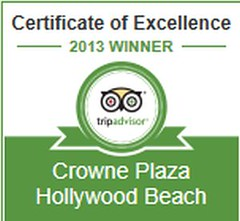 Certificate of Excellence Award 2013 (Crowne Plaza Hollywood Beach Hotel) Tags: plaza beach award hollywood customer service crowne excellence tripadvisor