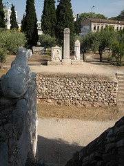 036 - Lion statue over Street of Tombs (Scott Shetrone) Tags: other graveyards events places athens greece 5th kerameikos anniversaries