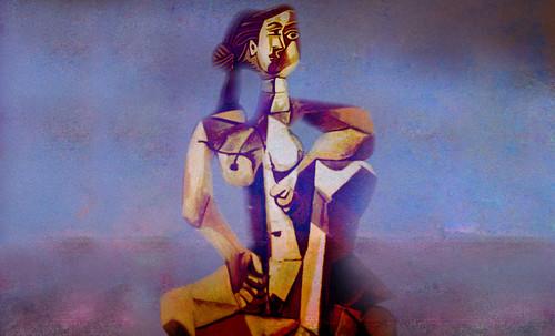 "Mujer Sentada, geometrización de Pablo Picasso (1953), abstracción de Roberto Real de León (2013). • <a style=""font-size:0.8em;"" href=""http://www.flickr.com/photos/30735181@N00/8815898368/"" target=""_blank"">View on Flickr</a>"