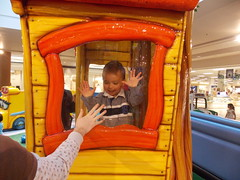 Fake Windows are so Exciting! (Marina A. Miller) Tags: baby alex rain marina mall shopping fun day play rainy burnaby meredith brentwood angelyna tarya