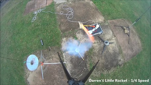 Darren's Little Rocket Launch Vid
