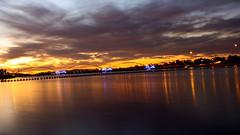 Town Lake (JR Marquina) Tags: lighting longexposure sunset arizona canon random 28mm canonrebel canon500d primelens canon28mm28