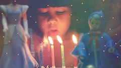 make a wish, little princess (she's  thunderstorms) Tags: birthday light baby cute girl beautiful cake night happy fire doll candles child dress princess happiness disney cinderella lovely