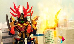 Victory Is Ours (ruiz.jesus59) Tags: city design graphicdesign miniature powerrangers tokusatsu supersentai powerrangerssamurai powerrangersmegaforce clawarmormegazord goseigreatmegazord