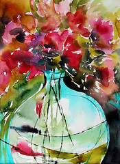 vase-rond (veroniquepiaser-moyen) Tags: flowers flower art fleur fleurs watercolor painting drawing aquarelle peinture bouquet artcontemporain bouquets toile pigments moyen contemporaine chssis piaser piasermoyen vroniquepiaser vroniquemoyen vroniquepiasermoyen
