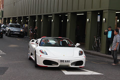 430 Spider (michaelbham243) Tags: white london car spider convertible ferrari knightsbridge expensive rare supercar 430