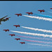 Sentinel and Red Arrows flypast
