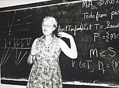 Mary Ellen, Lecturing, China 1981 (ali eminov) Tags: mathematicians topologists maryellen lectures china people women friends