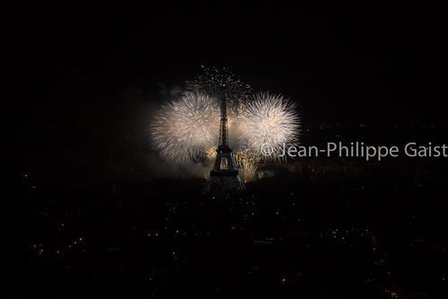 Feu d'artifice de la Tour Eiffel, 14 juillet 2013
