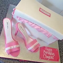 Shoebox & Shoe Cake