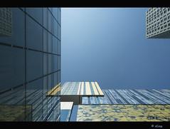 Blue..., blue..., blue (Just me, Aline) Tags: blue holland reflection netherlands lines architecture rotterdam blauw nederland architectuur d800 lijnen reflectie inholland anawesomeshot