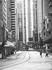 I had to get home before my neck was wrung (fedeskier) Tags: city white black asia centro center hong kong e bianco nero citt tifone