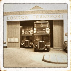 Black & white models (kingsway john) Tags: black white model 176 scale bus tram london transport rawley garage country londontransportmodel diorama oo gauge miniature