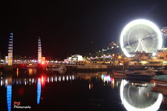 Torquay Harbour Bridge & Olympic Wheel (paul giles19) Tags: bridge water wheel night reflections lights harbor long exposure olympic torquay devan torbay nightnutters