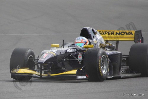 Narain Karthikeyan in Auto GP at Donington Park