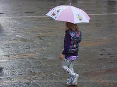 279/365 (hachiko_it) Tags: street autumn italy fall girl rain childhood umbrella canon eos child innocence trieste day279 eos450d canoneos450d day279365 3652013 chiarasirotti 365the2013edition 06oct13