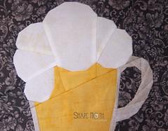 Beer Mug PP pattern (2) (ShapeMoth) Tags: man guy beer quilt drink oktoberfest mug block patchwork glas pp paperpieced shapemoth papierpiecing