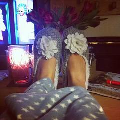 Nothing better then new winter nightwear! #slippers #pyjamas #dressinggown #cosy #winter ❄️ (ashlibean) Tags: new winter dressinggown then nothing better slippers pyjamas cosy nightwear ❄️
