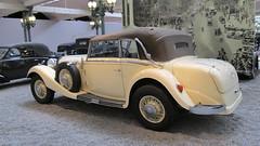 Mercedes-Benz Coach Dcouvrable 170 H 1937 (v8dub) Tags: auto old france classic car museum mercedes benz frankreich automobile cit voiture muse alsace oldtimer oldcar oldcars elsass collector mulhouse wagen pkw klassik