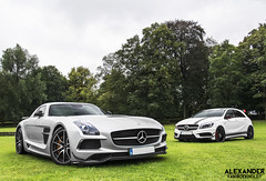 SLS AMG Black & A45 AMG Edition 1 (Spykerforce) Tags: black mercedes benz 1 shoot 45 mercedesbenz series a45 sls amg merc fotoshoot editon duoshoot vision:mountain=0623