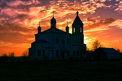 October's Sunset (Gena Golovskoy) Tags: sunset church october russia orthodox belgorod korocha zayachye