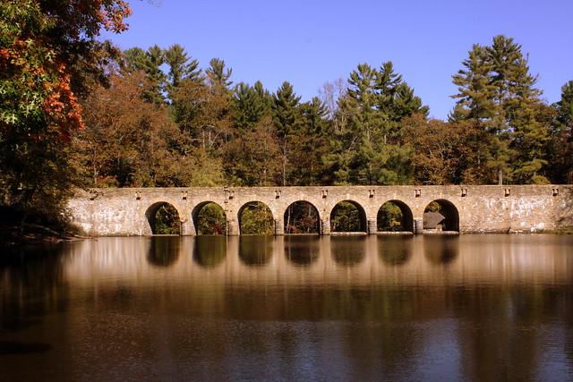 Cumberland Mountain State Park Stone Arch Bridge View #1