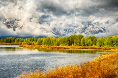 fall at Oxbow Bend - explore #1 Nov. 1, 2013 (Marvin Bredel) Tags: unitedstates wyoming moran jacksonhole grandtetonnationalpark marvinbredel