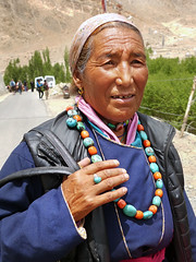 P1020343 At Phyang religious festival. Ladakh 2013. PS  (peteshep) Tags: ps peteshep copyrightphoto phyang religiousfestival buddhist tsedup ladakh himalayas india july6th2013 fz200 langenlat34186350lon77489657z18mbsearchphyang turquoise celadon coral phayang