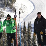 Nick Cooper, Johnny Crichton, James Clarkson, Derek Trussler - BC Team coaches on the job at Sun Peaks PHOTO CREDIT: Gordie Bowles