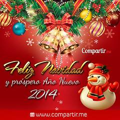 Tarjetita con detalles de navidad y saludo por año nuevo (Compartir.me) Tags: de navidad para imagenes frases ocasiones compartir tarjetas