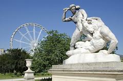 Thse combattant le Minotaure - Theseus and Minotaur, tienne-Jules Ramey, 1826 (Selbymay) Tags: sculpture statue tuileries marble minotaur marbre theseus ramey minotaure thse
