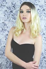 Martina (naomidiaz) Tags: portrait cute sexy beautiful fashion vintage soft pretty edmonton emotion makeup naomi blonde blackdress uploaded:by=flickrmobile flickriosapp:filter=nofilter